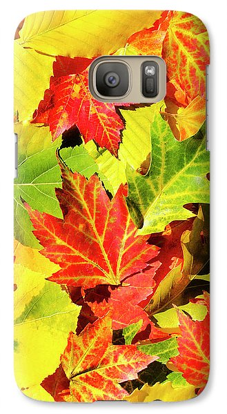 Galaxy Case featuring the photograph Autumn Leaves by Christina Rollo