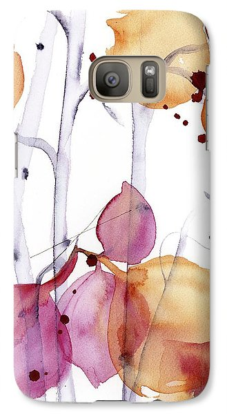 Galaxy Case featuring the painting Autumn Leaves by Dawn Derman