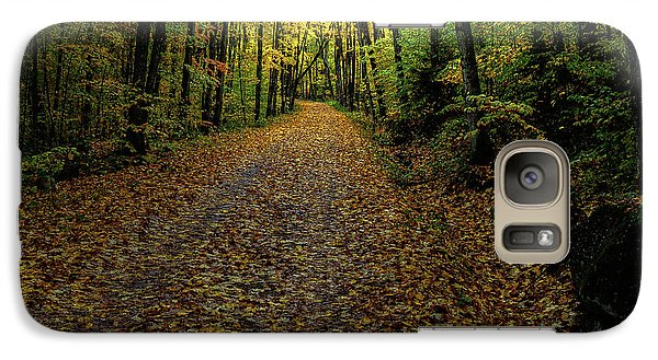 Galaxy Case featuring the photograph Autumn Leaves On The Trail by David Patterson