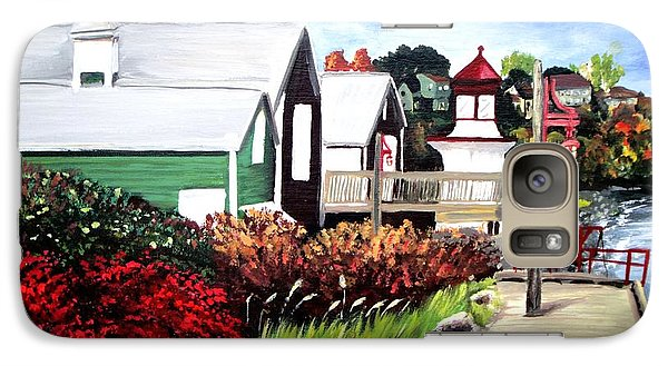 Galaxy Case featuring the painting Autumn Lighthouse Miramichi New Brunswick Canada by Patricia L Davidson