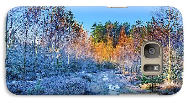 Galaxy Case featuring the photograph Autumn Meets Winter by Dmytro Korol