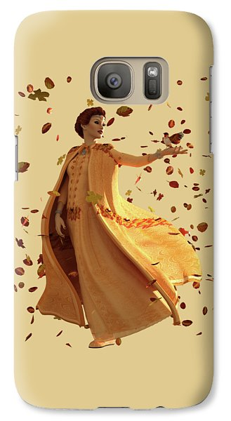 Galaxy Case featuring the digital art Autumn by Methune Hively