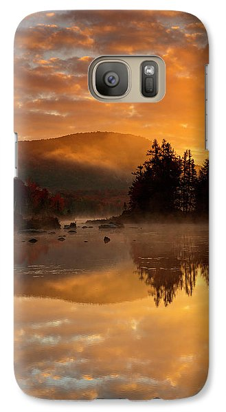 Galaxy Case featuring the photograph Autumn Mist by Mike Lang