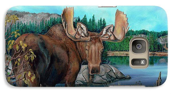 Autumn Moose Galaxy S7 Case
