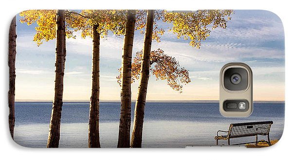 Galaxy Case featuring the photograph Autumn Morn On The Lake by Mary Amerman