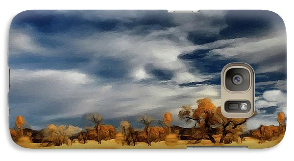 Galaxy Case featuring the painting Autumn On The Edge Of The Great Plains  by David Dehner