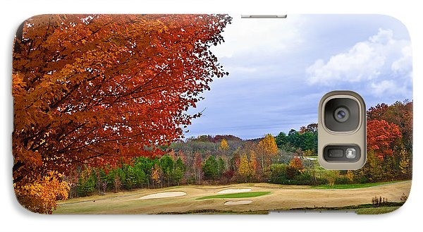 Galaxy Case featuring the photograph Autumn On The Golf Course by Susan Leggett