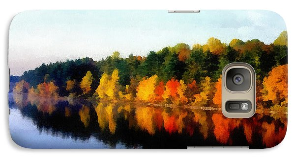 Galaxy Case featuring the photograph Autumn On The Lake by Joseph Frank Baraba