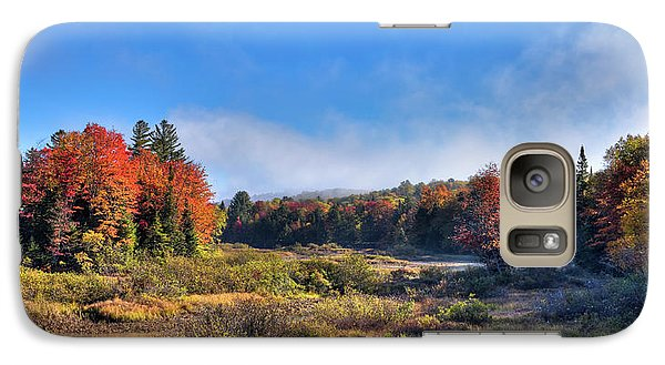 Galaxy Case featuring the photograph Autumn Panorama At The Green Bridge by David Patterson