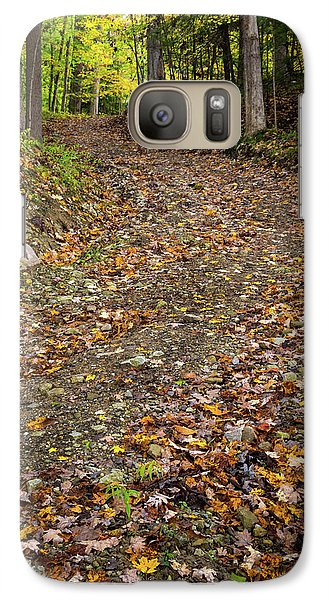 Galaxy Case featuring the photograph Autumn Pathway by Dale Kincaid