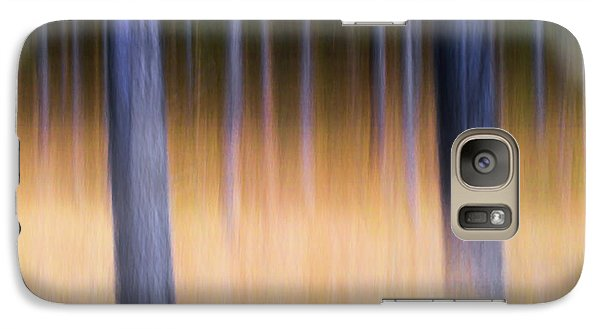 Galaxy Case featuring the photograph Autumn Pine Forest Abstract by Dirk Ercken