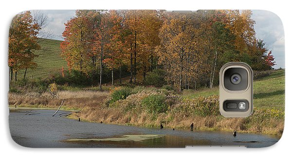 Galaxy Case featuring the photograph Autumn Pond by Joshua House