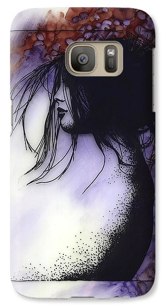 Galaxy Case featuring the painting Autumn by Ragen Mendenhall