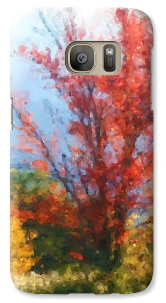 Galaxy Case featuring the mixed media Autumn Red And Yellow by Smilin Eyes  Treasures