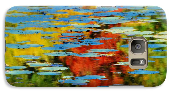Galaxy Case featuring the photograph Autumn Lily Pads by Diana Angstadt