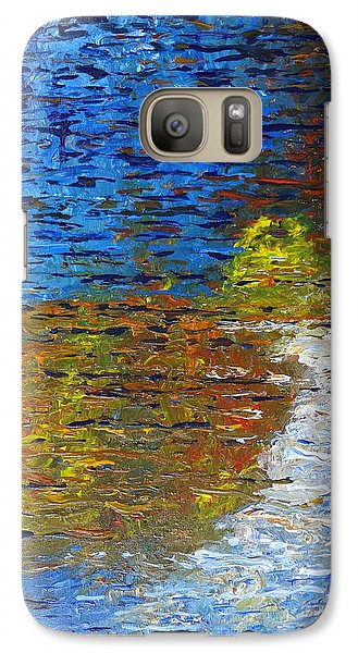 Galaxy Case featuring the painting Autumn Reflection by Jacqueline Athmann
