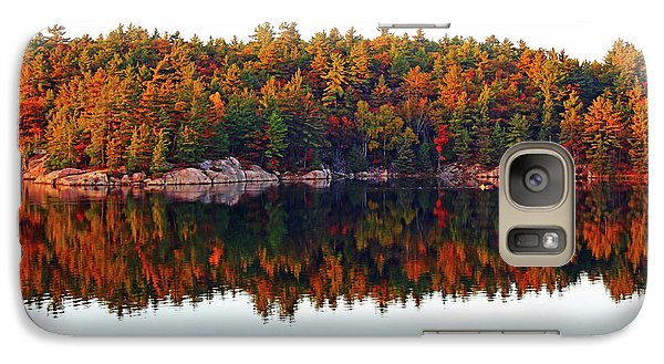 Galaxy Case featuring the photograph   Autumn Reflections by Debbie Oppermann