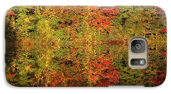Galaxy Case featuring the photograph Autumn Reflections In A Pond by Smilin Eyes  Treasures