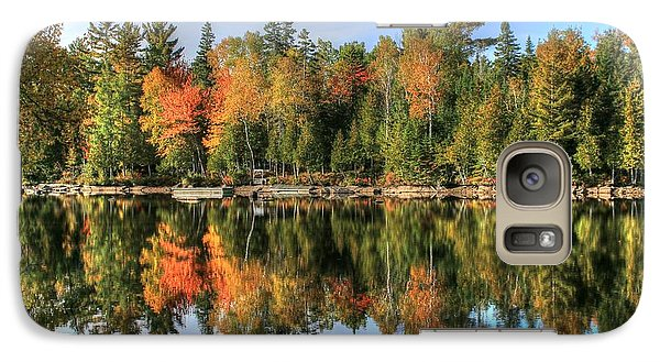 Galaxy Case featuring the photograph Autumn Reflections Of Maine by Shelley Neff
