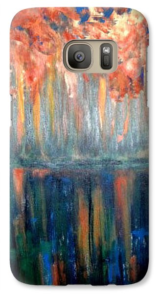Galaxy Case featuring the painting Autumn Reflections by Rae Chichilnitsky