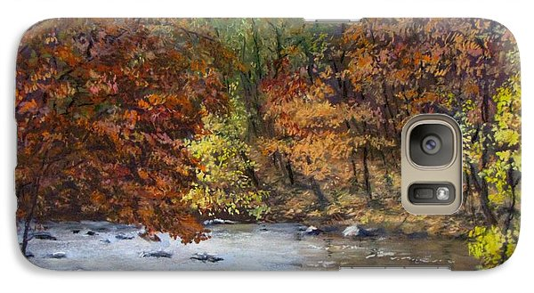 Galaxy Case featuring the painting Autumn River by Jack Skinner