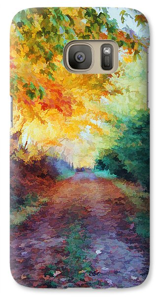 Galaxy Case featuring the photograph Autumn Road by Diane Alexander