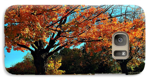 Galaxy Case featuring the photograph Autumn Rows by Joan  Minchak