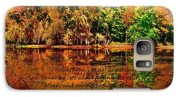 Galaxy Case featuring the painting Autumn Serenity Philanthropy Painted by Diane E Berry