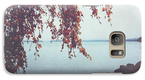 Galaxy Case featuring the photograph Autumn Shore by Ari Salmela