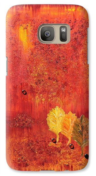 Galaxy Case featuring the painting Autumn by Sladjana Lazarevic