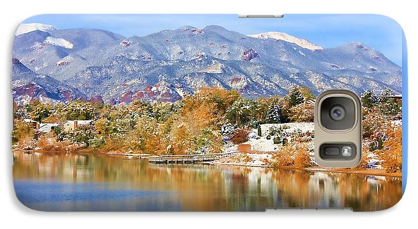 Galaxy Case featuring the photograph Autumn Snow At The Lake by Diane Alexander