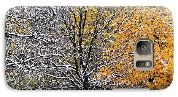 Galaxy Case featuring the photograph Autumn Snow by Doris Potter