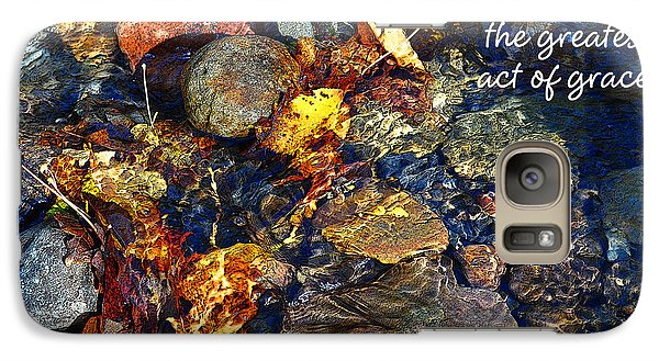 Galaxy Case featuring the drawing Autumn Splash Grace by Diane E Berry