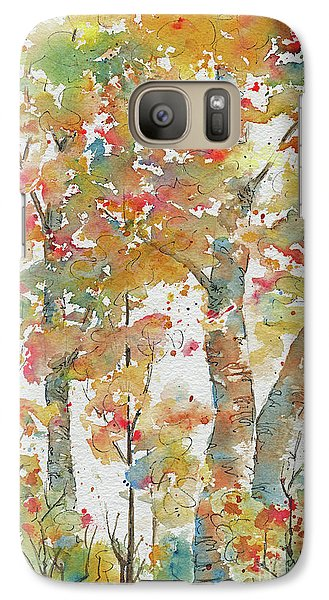 Galaxy Case featuring the painting Autumn Splendor by Pat Katz
