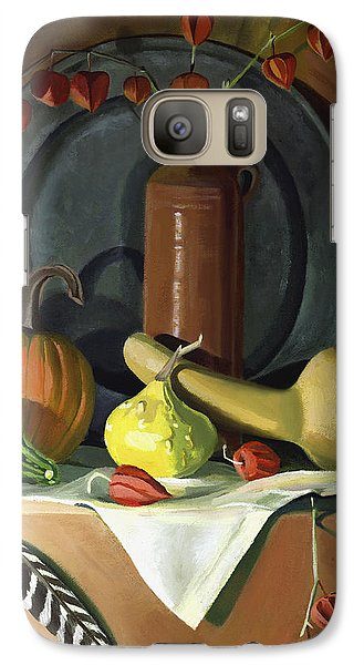 Galaxy Case featuring the painting Autumn Still Life by Nancy Griswold