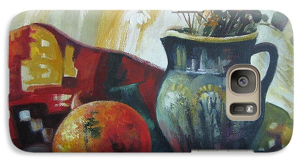 Galaxy Case featuring the painting Autumn Story by Elena Oleniuc
