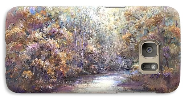 Galaxy Case featuring the painting Autumn Stream by Bonnie Goedecke