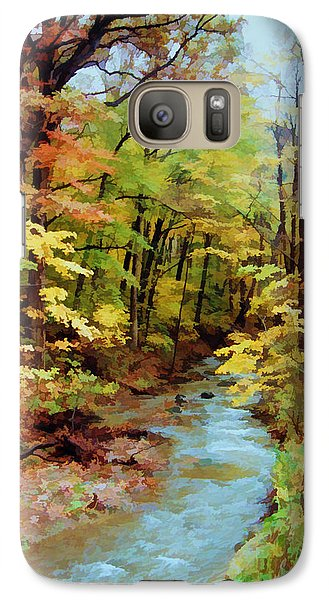 Galaxy Case featuring the photograph Autumn Stream by Diane Alexander