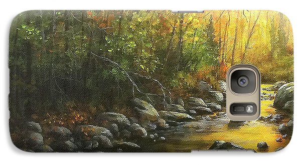 Galaxy Case featuring the painting Autumn Stream by Kim Lockman