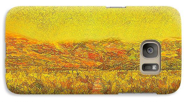 Galaxy Case featuring the digital art Golden Sunlit Path - Marin California by Joel Bruce Wallach