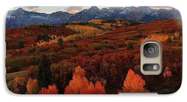 Galaxy Case featuring the photograph Autumn Sunrise At Dallas Divide In Colorado by Jetson Nguyen