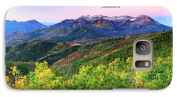 Galaxy Case featuring the photograph Autumn Sunrise In The Utah Mountains. by Johnny Adolphson
