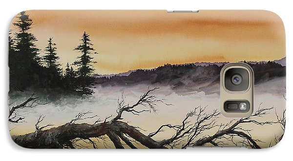 Galaxy Case featuring the painting Autumn Sunset Mist by James Williamson