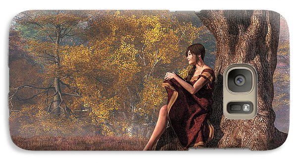 Galaxy Case featuring the digital art Autumn Thoughts by Daniel Eskridge
