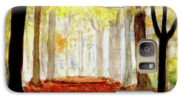 Galaxy Case featuring the painting Autumn Trail by Yoshiko Mishina