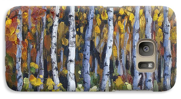 Galaxy Case featuring the painting Autumn Trees by Jennifer Beaudet