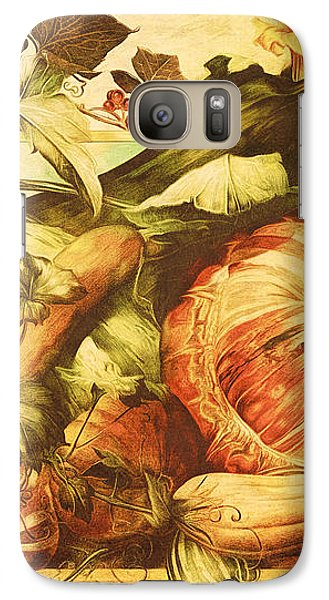 Galaxy Case featuring the digital art Autumn Vegetable Harvest  by Tracie Kaska