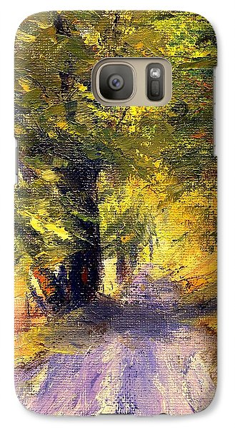 Galaxy Case featuring the painting Autumn Walk by Gail Kirtz