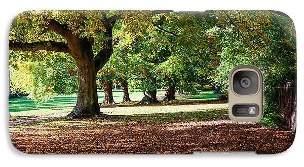 Galaxy Case featuring the photograph Autumn Walk In The Park by Colin Rayner