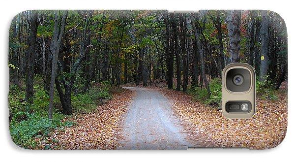 Galaxy Case featuring the photograph Autumn Walk by Jan Cipolla